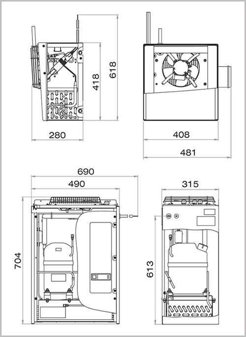 Схема модулей  Polair SM 111 S